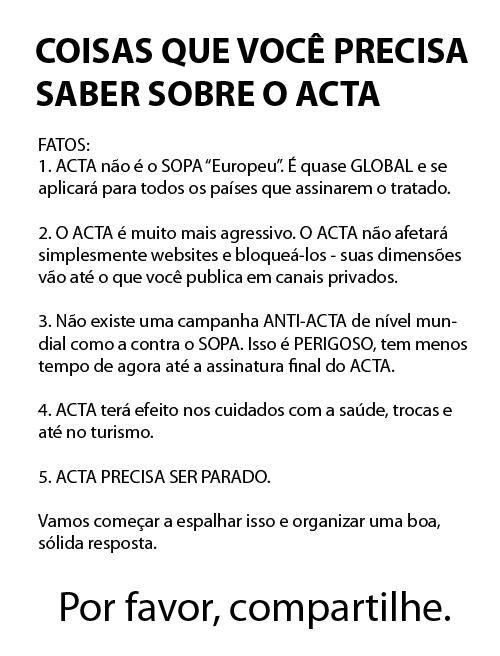 >> Sala de Espera 20 – Totalit'ACTA-rismo – mais um passo no campo de extermínio da cultura e da civilização