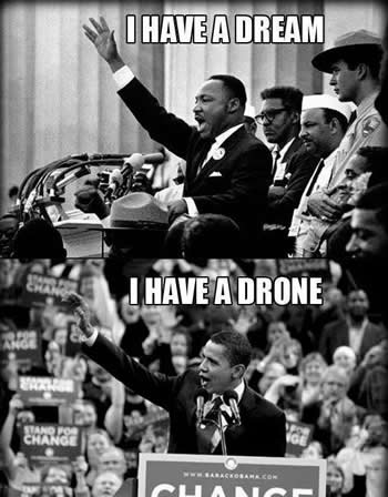 ">> Singelas PROFANA-ações 81: M.L.King: ""I have a dream"" – B.Obama: ""I have a drone"""