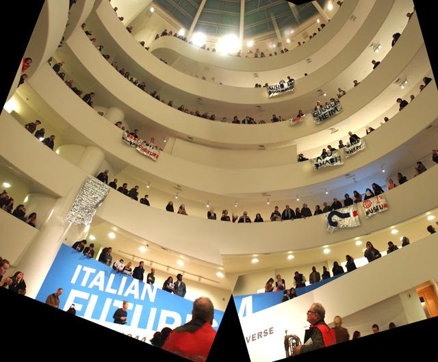 >> Cinco minutos para a intervenção Ocupar o Museu Guggenheim de NY