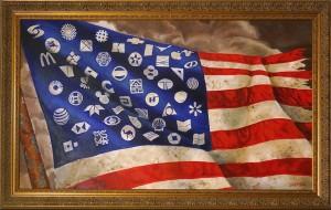 >> A Arte da Corporatocracia e Caro Sr. 1% (ganância empresarial e corrupção política), telas e animação de Michael D'Antuono