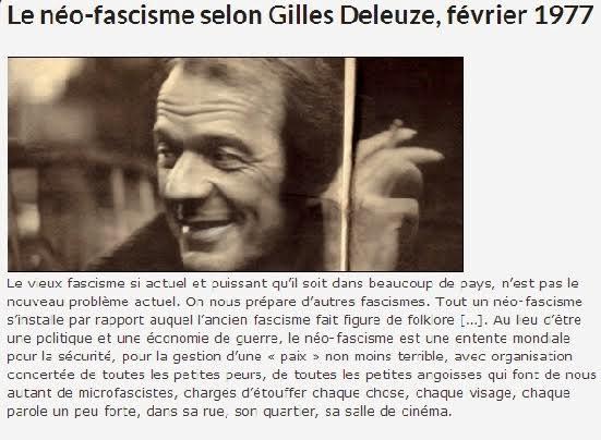 Neofascismos, segundo Deleuze e Saramago