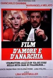 Poemário vasculhado 12: Film d'Amore e d'Anarchia – de Lina Wertmüller, música de Nino Rota